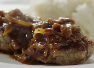 How to make burgers on the stove  a Hamburger Steak with Onions and Gravy