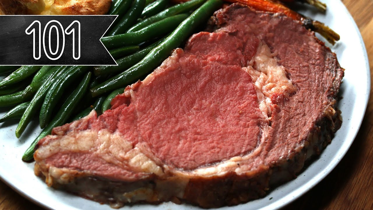 Roast beef cooked in oven and served on a plate